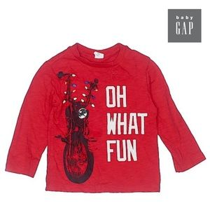 Baby GAP Boys Red Christmas 🎄 Long Sleeve Top 2T